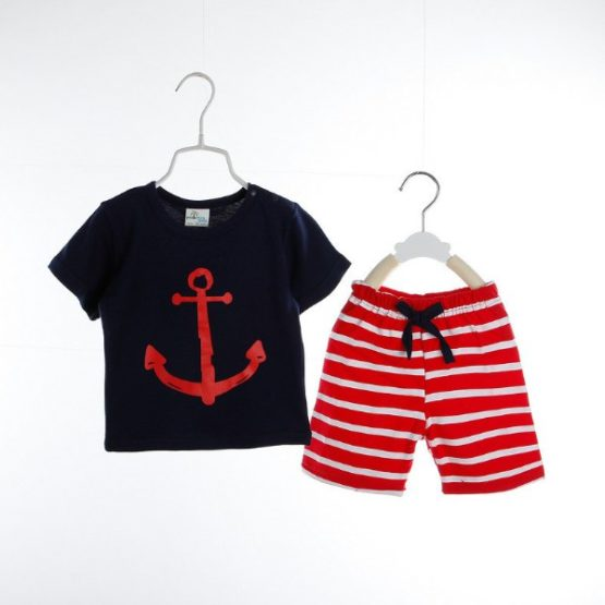 Baby Sailor Set (Red and Black)
