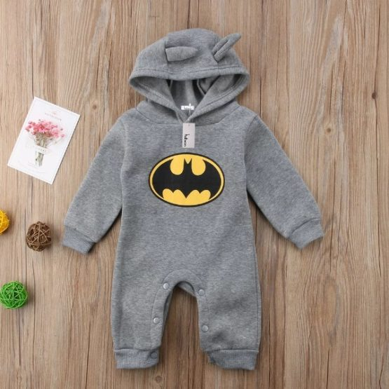 Baby Batman Winter Romper