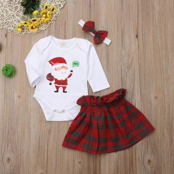 3Pcs Christmas Girl Set