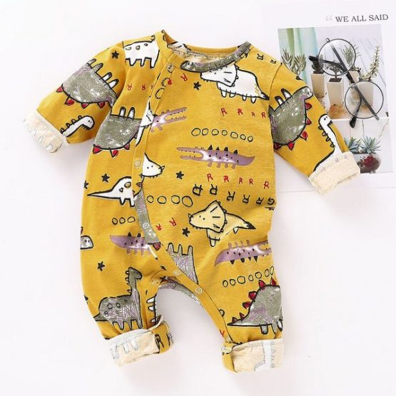 Cotton Dinosaur Romper 3M