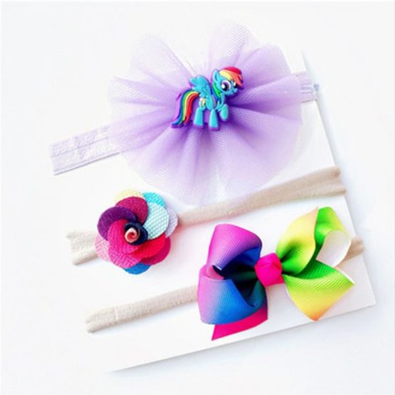 3 Pieces/Set Baby Girl Colorful Headbands