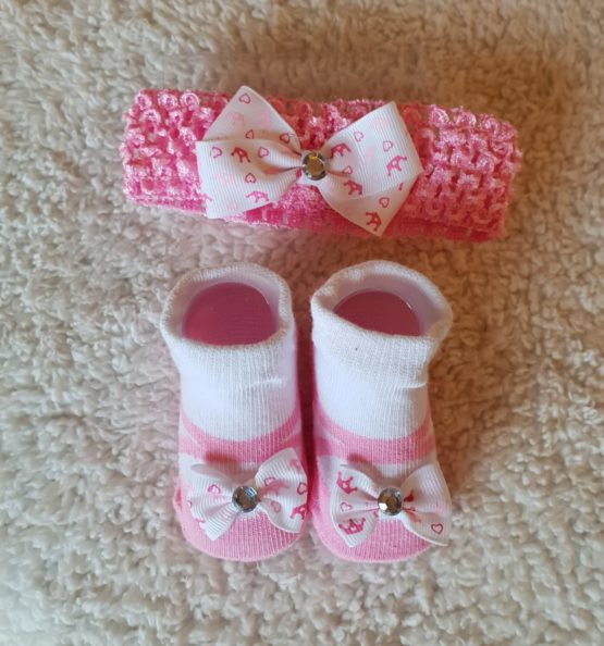 Socks & Headband Set (0-3M)
