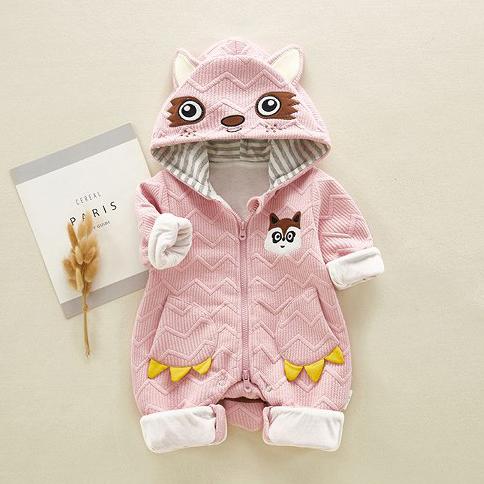 Racoon Baby Romper (Pink)