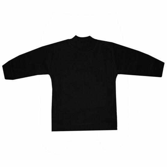 High Neck Cotton Sweater (Black)