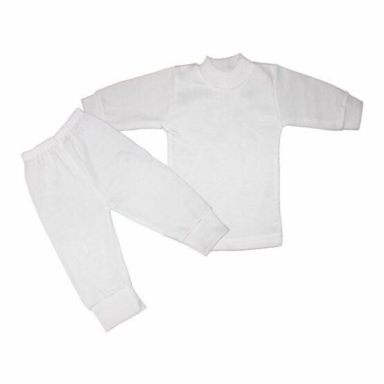 Baby Cotton Pajamas White