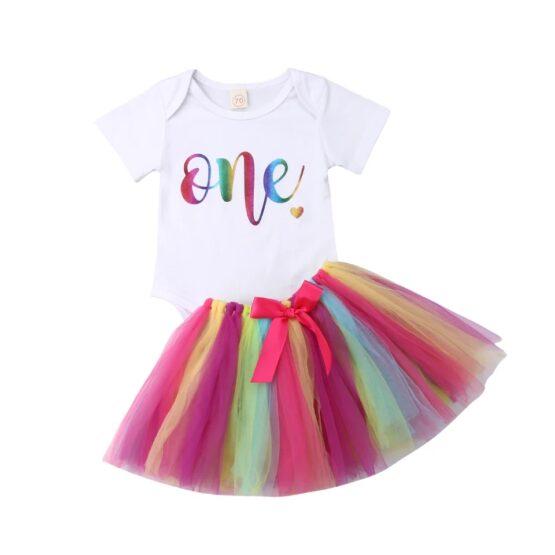 1st Birthday Baby Girl Set (3 Pcs)