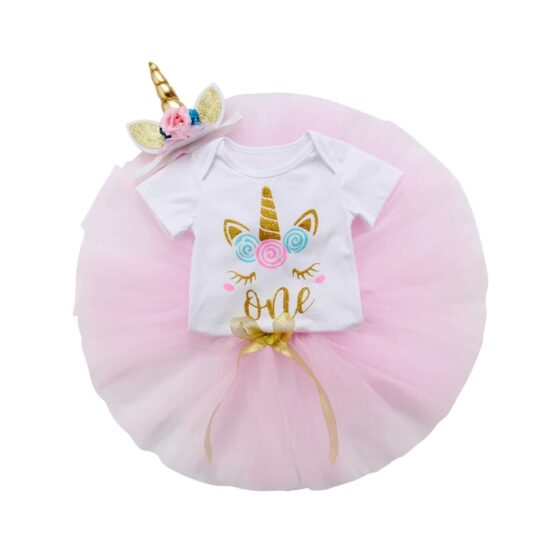 Unicorn Baby Birthday Set (3 Pcs)